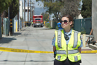 The FBI and the Santa Monica Police and Fire Departments respond to what they thought may have been a hate crime (pipe bomb explosion) behind the Chabad House of Santa Monica (an orthodox Jewish synagogue) on Thursday, April 7, 2011...The explosion that took place this morning in the 1400 block of 17th Street was due to an industrial  accident, not a pipe bomb according to sources at the scene. ..No one was injured..