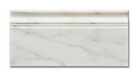 Calacatta Radiance Base Molding available in a honed or polished finish is part of New Ravenna's Studio Line. All mosaics in this collection are ready to ship within 48 hours.<br />