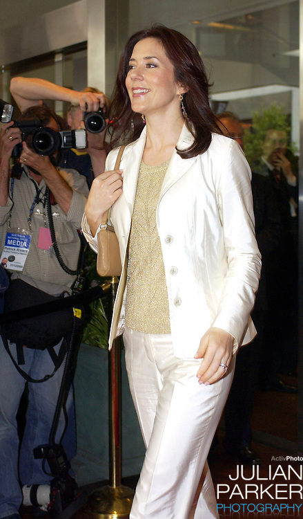 Crown Princess Mary of Denmark attends a mental health Foundation of Australia luncheon, at the Four Seasons Hotel in Sydney, during her 2-week visit to Australia with Crown Prince Frederik..