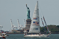 "Yachts from the ""Clipper Round the World"" race take part in celebrations for the Queen's Diamond Jubilee in New York June 2 , 2012.  Photo by Kena Betancur / VIEWpress.."