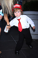 NEW YORK, NY-October 12:Mini-Trump Hunter Tirpak at Mini-Trump Hunter Tirpak at Fox & Friends  in New York.October 12, 2016. Credit:RW/MediaPunch