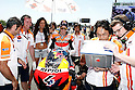 May 23, 2010 - Le Mans, France - Italian rider Andrea Dovizioso is pictured on the grid prior the French Grand Prix on May 23, 2010. (Photo Andrew Northcott/Nippon News).