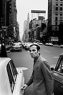 March, 1965, Manhattan, NYC. Charles Aznavour visits New York City to promote his film Taxi For Torburk.