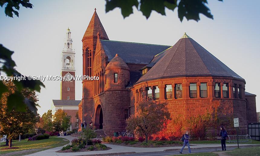 Billings Library, Fall UVM Campus