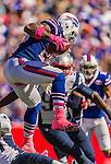 12 October 2014: Buffalo Bills running back Anthony Dixon in action against the New England Patriots at Ralph Wilson Stadium in Orchard Park, NY. The Patriots defeated the Bills 37-22 to move into first place in the AFC Eastern Division. Mandatory Credit: Ed Wolfstein Photo *** RAW (NEF) Image File Available ***