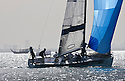 Pictures of Courier Dunkerque skippered by Daniel Souben. Shown here training prior to the race start in Bahrain..Credit: Lloyd Images