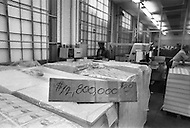 Oct 1971, Washington DC. Making of the dollar in the Bureau of Engraving and Printing.