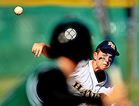 (staff photo by Matt Roth)..River Hill pitcher Jeff Crosswhite carried the Hawks on the mound and at the plate, shutting out Parkside High School 5-0 and hit in a three-run home run during the 2A State semifinal game at Arundel High School Tuesday, May 19, 2009.