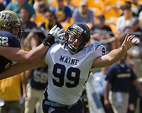 Maine defensive lineman Michael Cole. The Pitt Panthers beat the Maine Black Bears 35-29 at Heinz Field, Pittsburgh, PA on September 10, 2011.