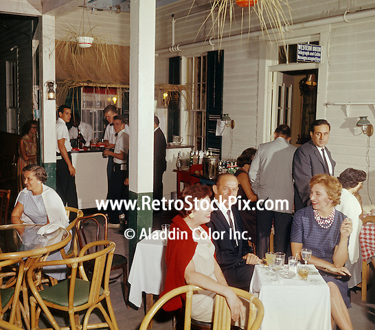 Montrowese Hotel, Branford, Conn. Drinks in the lounge.<br /> 1960's.