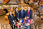 Launching the Kerry's Eye Garveys Supervalu 1,000 Euro shopping competition were from left: Patricia Claffey, Garveys Tralee, Sandra Lynch, Garveys Store manager Tralee, Brendan Kennelly and Kevin McCarthy, MD Garveys.