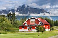 Barn in the Matanuska Valley, Palmer, southcentral, Alaska.