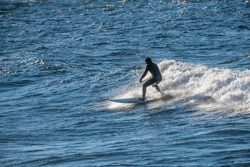 Lake Superior surfing at Marquette, Michigan.