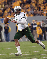 USF quarterback BJ Daniels. The West Virginia Mountaineers defeated the South Florida Bulls 20-6 on October 14, 2010 at Mountaineer Field, Morgantown, West Virginia.