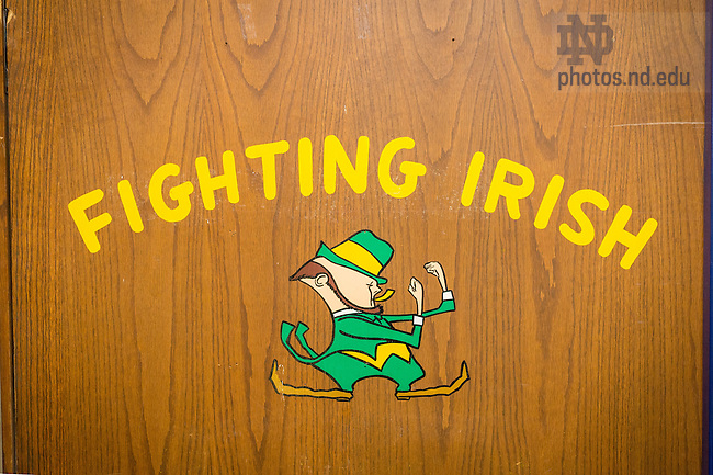 March 3, 2017; Door to the boxing gym in the basement of the Joyce Center. (Photo by Matt Cashore/University of Notre Dame)