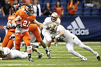 SAN ANTONIO, TX - NOVEMBER 24, 2012: The Texas State University Bobcats versus the University of Texas at San Antonio Roadrunners Football at the Alamodome. (Photo by Jeff Huehn)