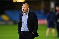 Bristol Rugby Director of Rugby Andy Robinson looks on during the pre-match warm-up. European Rugby Challenge Cup match, between Bath Rugby and Bristol Rugby on October 20, 2016 at the Recreation Ground in Bath, England. Photo by: Patrick Khachfe / Onside Images