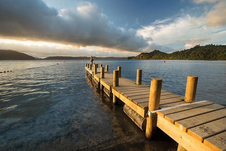The Jetty, Lake Rotoma, Rotorua, New Zealand - stock, fine art, canvas print