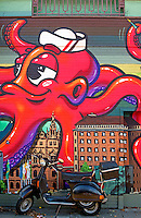 Street scenes in Hamburg, at the St. Pauli Reeperbahn, Germany