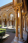 Cloisters with decorated coloumns of Monreale Cathedral - Palermo - Sicily Pictures, photos, images &amp; fotos photography