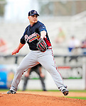 2 March 2010: Atlanta Braves pitcher Chris Resop in action against the New York Mets during the Opening Day of Grapefruit League play at Tradition Field in Port St. Lucie, Florida. The Mets defeated the Braves 4-2 in Spring Training action. Mandatory Credit: Ed Wolfstein Photo