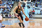 05 January 2014: Maryland's Katie Rutan. The University of North Carolina Tar Heels played the University of Maryland Terrapins in an NCAA Division I women's basketball game at Carmichael Arena in Chapel Hill, North Carolina. Maryland won the game 79-70.