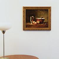 "Chardin: ""The Silver Goblet"", Digital Print, Image Dims. 13"" x 16"", Framed Dims. 16"" x 19.5"""