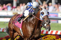 Luis  Quinonez  aboard Alternation  wins of Pimlico Special  Stakes at Pimlico Race Course on Black Eyed Susan Day in Baltimore, MD on 05/18/12. (Ryan Lasek/ Eclipse Sportswire)