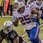 Buffalo Bills running back LeSean McCoy (25) finds room to run on Sunday, December 04, 2016, at O.co Coliseum in Oakland, California.  The Raiders defeated the Bills 38-24.