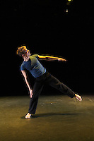 "Karin Stevens Dance performing ""Courante"" with the Starry Night Chamber Orchestra at The Black Box Theatre at Edmonds Community College."