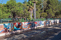 """California from earliest pre-history through the 1960s"" Great Wall Mural, Los Angeles, CA; San Fernando; Valley; Tujunga Wash; sub watershed,  California;"
