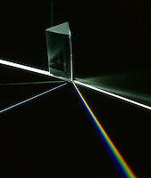 SPECTRUM: LIGHT REFRACTED BY A PRISM<br />