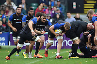 Dave Attwood of Bath Rugby in action. Bath Rugby Captain's Run on October 30, 2015 at the Recreation Ground in Bath, England. Photo by: Patrick Khachfe / Onside Images