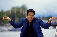 Actor Tusshar Kapoor at the shooting set of the Bollywood film ''Live only for you''Jeena Sirf Merre Liye'' at the Limmat river in Zurich, Switzerland.
