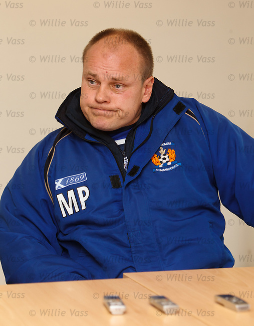 Kilmarnock's manager Mixu Paatelainen at today's press conference