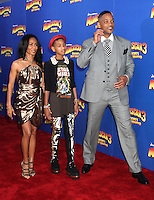 Jada Pinkett Smith, Willow Smith and Will Smith at the NY premiere of Madagascar 3: Europe's Most Wanted at the Ziegfeld Theatre in New York City. June 7, 2012. © RW/MediaPunch Inc.