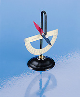 DIPPING NEEDLE &amp; EARTH'S MAGNETIC FIELD<br /> Measures Vertical Component of Earth's Field<br /> Magnetic inclination is measured quantitatively, with the magnetic needle supported on a horizontal axis.