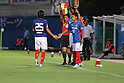 (L-R) Shunsuke Nakamura, Yuji Ono (F Marinos),JULY 13, 2011 - Football :Yuji Ono of Yokohama F Marino comes on as a substitute for Shunsuke Nakamura during the 2011 J.League Division 1 match between Yokohama F Marinos 2-1 Montedio Yamagata at NHK Spring Mitsuzawa Football Stadium in Kanagawa, Japan. (Photo by Kenzaburo Matsuoka/AFLO)
