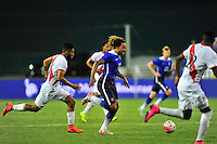 Jermaine Jones of US goes up against several defenders. USA defeated Peru 2-1 during a Friendly Match at the RFK Stadium in Washington, D.C. on Friday, September 4, 2015.  Alan P. Santos/DC Sports Box