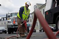 Boston Public Works Pothole Repair Crew