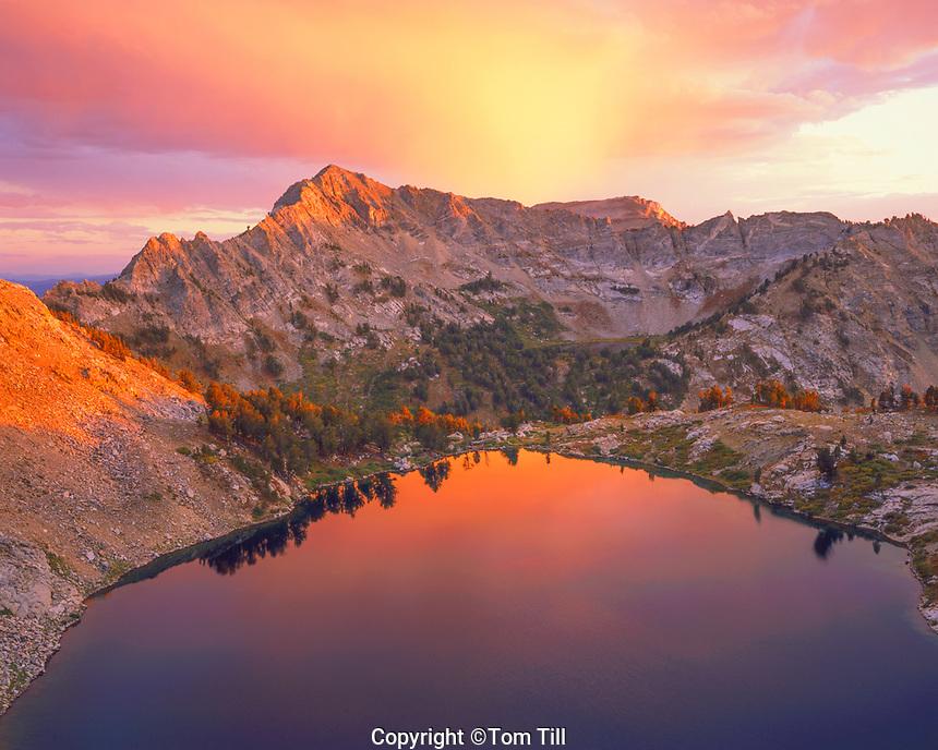 Liberty Lake & Lake Peak, Ruby Range, Great Basin Range near Elko, Humbolt National Forest, Nevada