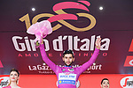 Fernando Gaviria (COL) Quick-Step Floors retains the points Maglia Ciclamino at the end of Stage 8 of the 100th edition of the Giro d'Italia 2017, running 189km from Molfetta to Peschici, Italy. 1th May 2017.<br /> Picture: LaPresse/Gian Mattia D'Alberto | Cyclefile<br /> <br /> <br /> All photos usage must carry mandatory copyright credit (&copy; Cyclefile | LaPresse/Gian Mattia D'Alberto)