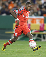 Nana Attakora #3 of Toronto FC during an MLS match against D.C. United that was the final appearance of D.C. United's Jaime Moreno at RFK Stadium, in Washington D.C. on October 23, 2010. Toronto won 3-2.