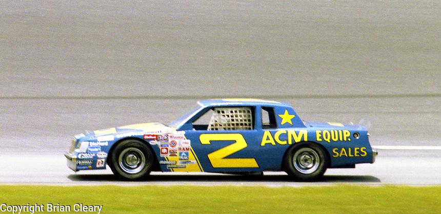 Morgan Shepherd 2 action Firecracker 400 at Daytona International Speedway in Daytona Beach, FL on July 4, 1983. (Photo by Brian Cleary/www.bcpix.com)