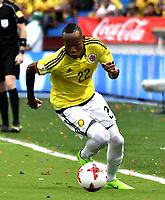 BARRANQUILLA – COLOMBIA - 23 – 03 -2017: Luis Quiñones, jugador de Colombia en accion, durante partido entre los seleccionados de Colombia y Bolivia, de la fecha 13 válido por la clasificación a la Copa Mundo FIFA Rusia 2018, jugado en el estadio Metropolitano Roberto Melendez en Barranquilla. / Luis Quiñones, player of Colombia in action, during match between the teams of Colombia and Bolivia, of the date 13 valid for the Qualifier to the FIFA World Cup Russia 2018, played at Metropolitan stadium Roberto Melendez in Barranquilla. Photo: VizzorImage / Luis Ramirez / Staff.
