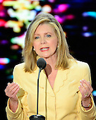 United States Representative Marsha Blackburn (Republican of Tennessee), Co-Chair, Committee on Resolutions, makes remarks at the 2012 Republican National Convention in Tampa Bay, Florida on Tuesday, August 28, 2012.  .Credit: Ron Sachs / CNP.(RESTRICTION: NO New York or New Jersey Newspapers or newspapers within a 75 mile radius of New York City)