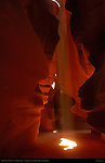 Beam of Light, Upper Antelope Canyon, Tse-Bighanilini, Slot Canyon, Lake Powell Navajo Tribal Park, Page, Arizona