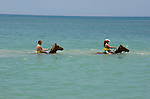 Horseback riding in Caribbean Ocean at Chukka Blue in Montego Bay