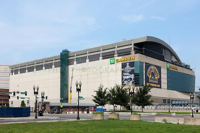 TD Garden, home of the NBA Boston Celtics and NHL Boston Bruins