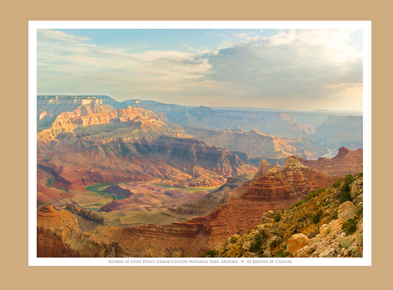 Sunrise at Lipan Point <br />